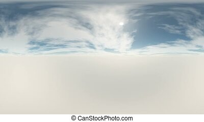 360 degree Panoramic Sky and Clouds. ready for use in 3D...