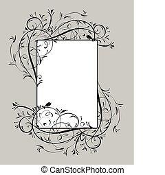 Vintage floral frame for your design
