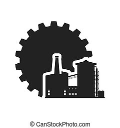 gear factory silhouette design