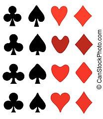 playing card symbols - Set of playing card symbols, vector