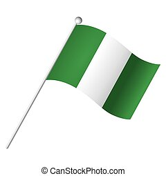 Isolated flag - Isolated Nigerian flag, Vector illustration