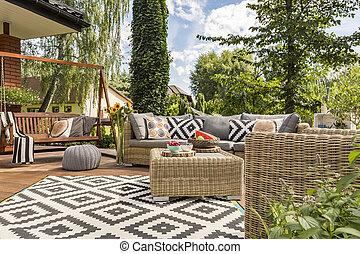 New villa patio idea - New design villa patio with...