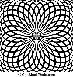 Rotation pattern - Abstract rotation pattern Vector art
