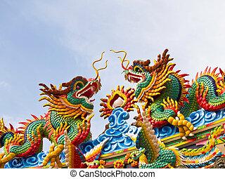 ikergyermek, Tető, kínai, sárkány