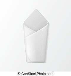 Folded Envelope Napkin Top View. Table Setting - Vector...