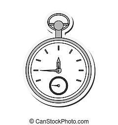 pocket watch icon - flat design pocket watch icon vector...