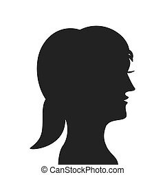 woman head profile silhouette icon