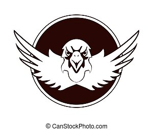 eagle emblem icon - flat design eagle emblem icon vector...
