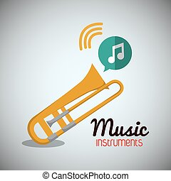 trumpet music sound instrument