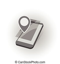 mobile device search geo - mobile device with geo map gps...