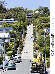 The Steepest Street - The view of Baldwin Street, officially...
