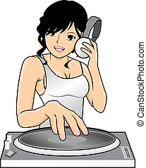 Glamour Female DJ - Picture of glamour female DJ
