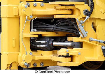 hidráulico, mecanismo,  tractor