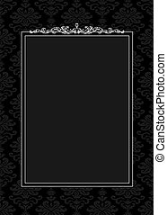 Vector Ornament and Black Frame