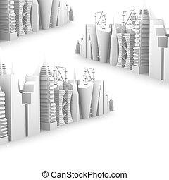 cityscape skyscrapper road