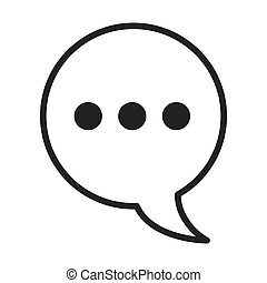 speech bubble social media isolated icon