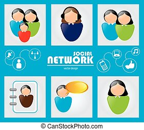 social media communication icon