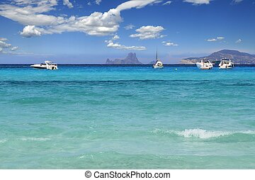 Illetes Formentera beach turquoise mediterranean Balearic...