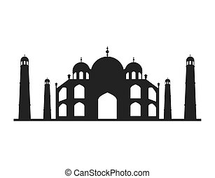 taj mahal isolated icon vector illustration, eps10