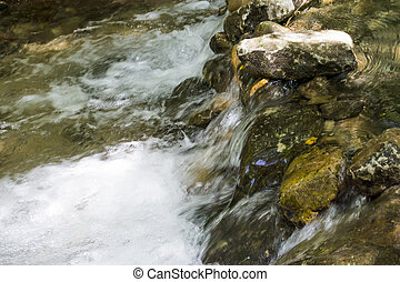 Landscape of a river in the mountains