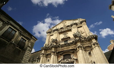 church of Catania. Sicily,Italy - Catholic church of...