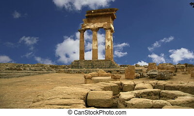 Temple of the Dioscuri,Sicily - Ancient Greek Temple of the...