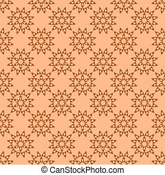 Flowers on a brown background.
