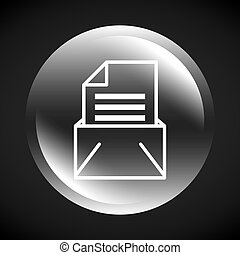 envelope mail send message isolated icon