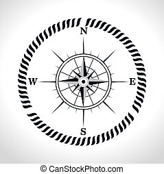 compass symbol retro icon
