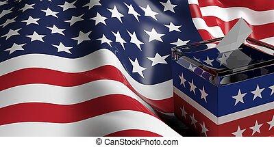 3d rendering ballot box - 3d rendering glass ballot box on...