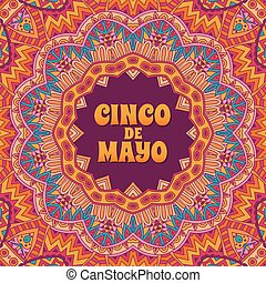 Cinco de mayo banner ornamental