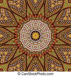 round mandala ornamental background