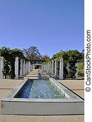 Capital Hill garden, Canberra - water feature at the gardens...