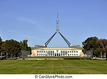 Parliament building, Canberra - Parliament building on...