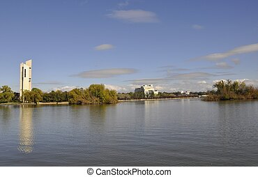 Lake Burley Griffin landmarks - National Carillion, High...