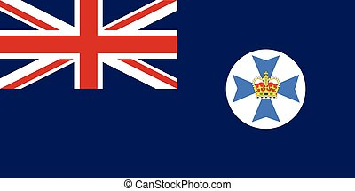 Queensland State Flag - The flag of the Australian state of...