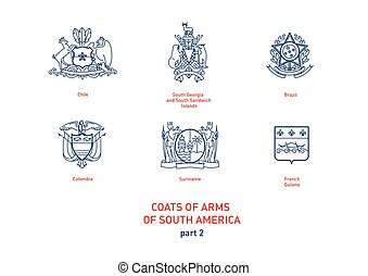 images of coats arms South America - Development of linear...