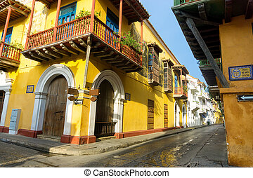 Beautiful Cartagena, Colombia - View of stunning colonial...
