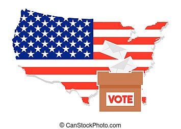 United States of America Elections - Vector illustration of...