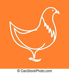 Chicken vector illustration