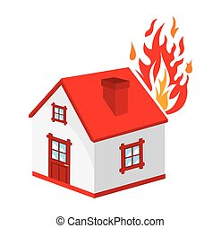 Home fire icon