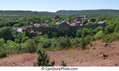 La Couvertoirade Old Town In France - View of the...