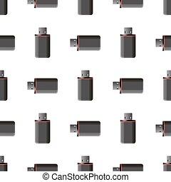 Memory Stick Seamless Pattern on White Flash Computer Device...