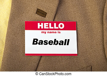 My Name is Baseball. - Hello my name is Baseball on name...