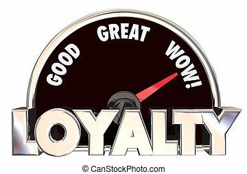 Loyalty Customers Employees Satisfied Speedometer 3d...