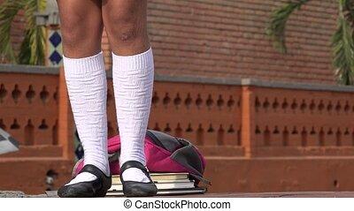 Girl Dancing Wearing White Socks