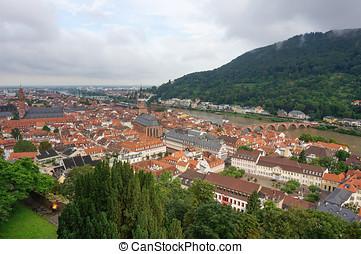 Heidelberg aldstadt view - heidelberg old town aldstadt...