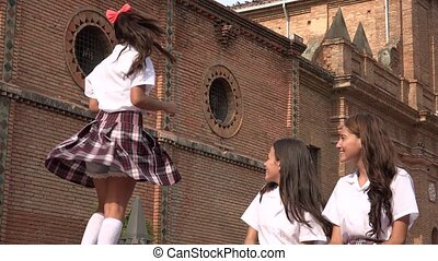 Teen Catholic School Girl Dancing