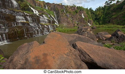 Motion from Stones to Waterfall Cascade Panagarh