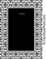 Vector Background Pattern and Frame
